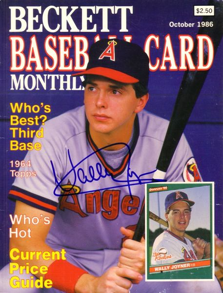 Wally Joyner autographed Angels Beckett Baseball magazine cover