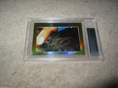 Wally Szczerbiak 2014 Leaf Masterpiece Cut Signature certified autograph card 1/1 JSA