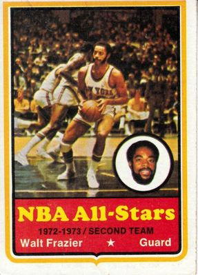 Walt Frazier New York Knicks 1973-74 Topps card #10