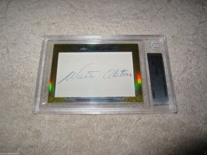 Walter Alston 2014 Leaf Masterpiece Cut Signature certified autograph card 1/1 JSA