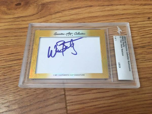 Warren Beatty 2016 Leaf Masterpiece Cut Signature certified autograph card 1/1 JSA