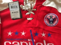 Washington Capitals 2018 Stanley Cup Champions authentic CCM embroidered hoodie or sweatshirt NEW
