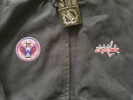 Washington Capitals 2018 Stanley Cup Champions Dunbrooke quilted canvas work jacket with hood NEW