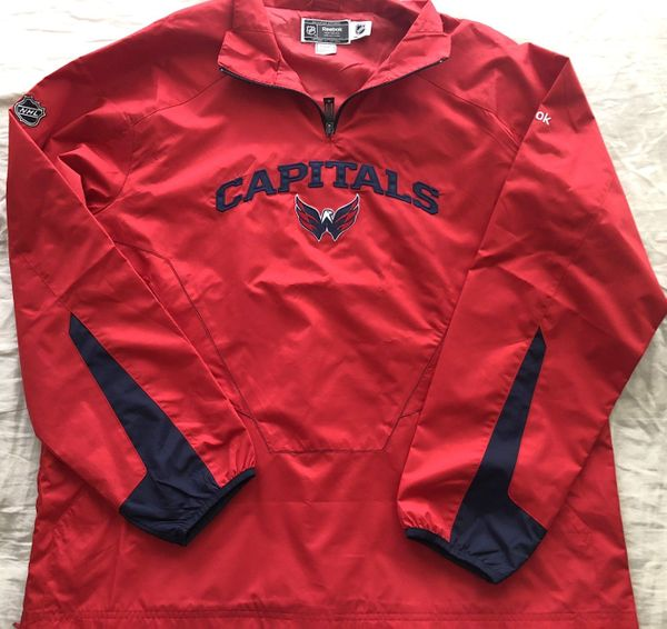 Washington Capitals Reebok NHL Center Ice Collection red pullover jacket NEW