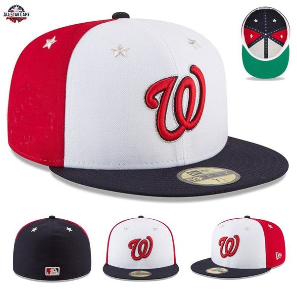 Washington Nationals 2018 MLB All-Star Game authentic New Era 59FIFTY game model fitted cap or hat (no patch) NEW