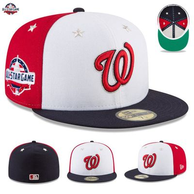 Washington Nationals 2018 MLB All-Star Game authentic New Era 59FIFTY game model fitted cap or hat NEW