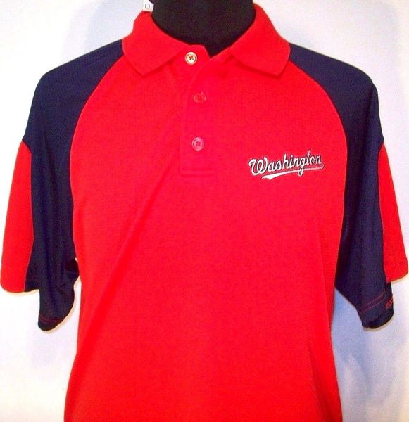 Washington Nationals red golf or polo shirt NEW