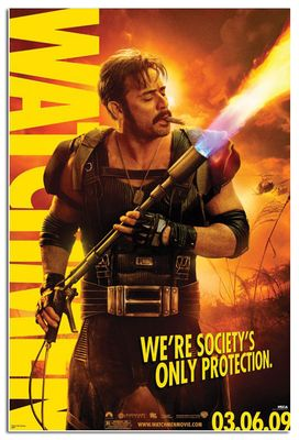 Watchmen original 2009 mini 11x17 movie poster (Jeffrey Dean Morgan as The Comedian) MINT