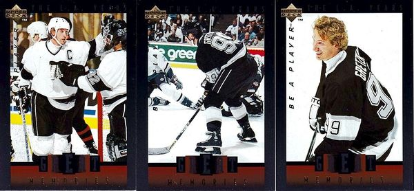 Wayne Gretzky Great Memories 1995-96 Upper Deck Be A Player lot of 3 insert cards