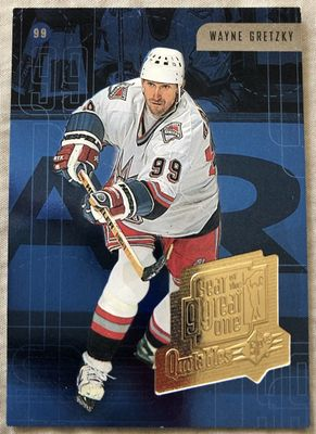 Wayne Gretzky New York Rangers 1998-99 SPx Year of the Great One Quotables insert card WG22