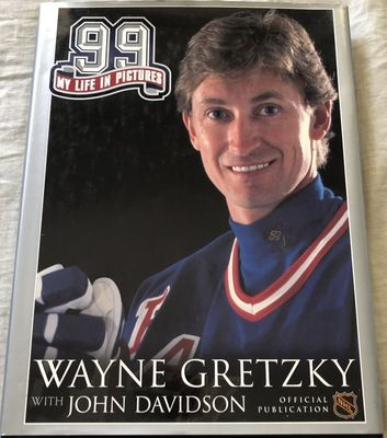 Wayne Gretzky 99 My Life in Pictures hardcover coffee table book