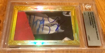 Wayne Gretzky and Grant Fuhr 2014 Leaf Masterpiece Cut Signature certified autograph card 1/1