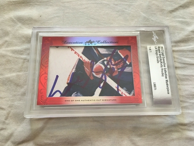 Wayne Gretzky and Kelly Hrudey 2017 Leaf Masterpiece Cut Signature certified autograph card 1/1 JSA