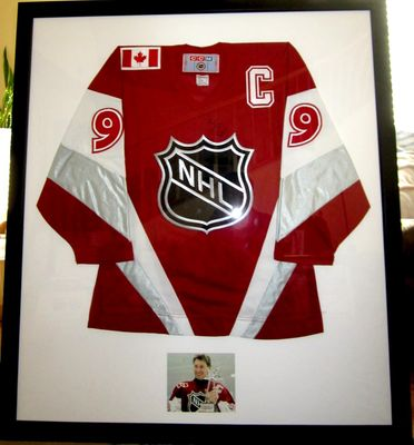 Wayne Gretzky autographed 1999 NHL All-Star Game New York Rangers authentic CCM jersey framed with photo