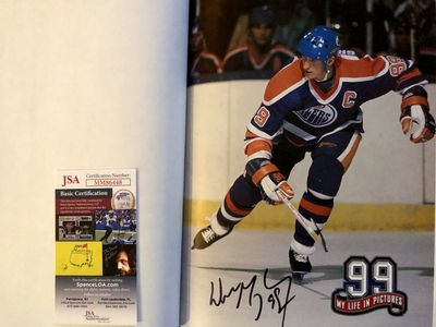 Wayne Gretzky autographed 99 My Life in Pictures coffee table hardcover book (JSA)