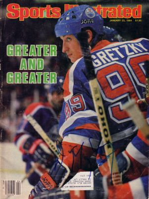 Wayne Gretzky autographed Edmonton Oilers 1984 Sports Illustrated