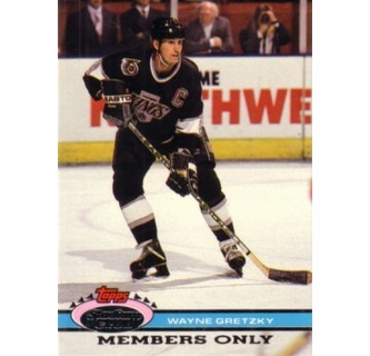 super popular 375c7 201e4 Wayne Gretzky Kings 1992 Stadium Club Members Only card