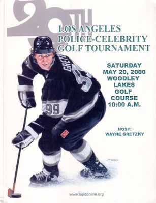 Wayne Gretzky Los Angeles Kings May 2000 LAPD Celebrity Golf program