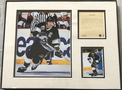 Wayne Gretzky Los Angeles Kings 11x14 art print matted and framed