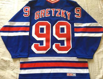 Wayne Gretzky New York Rangers authentic CCM stitched blue throwback jersey BRAND NEW