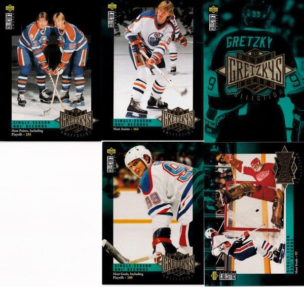 Wayne Gretzky Record Collection 1995-96 Upper Deck Collector's Choice partial insert card set