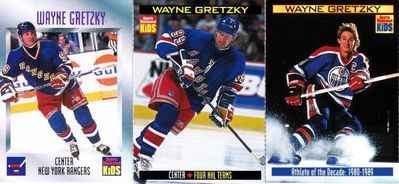 Wayne Gretzky lot of 3 Sports Illustrated for Kids cards 1997 1999 and 2000