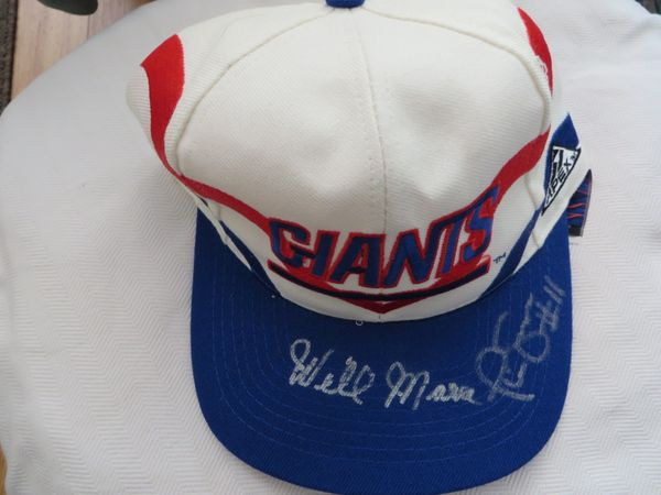 Wellington Mara & Phil Simms autographed New York Giants cap or hat