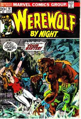Werewolf By Night 1973 Marvel comic book issue #10