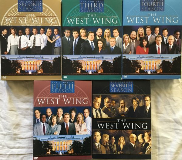 The West Wing Seasons 2 3 4 5 7 lot of five DVD boxed sets LIKE NEW