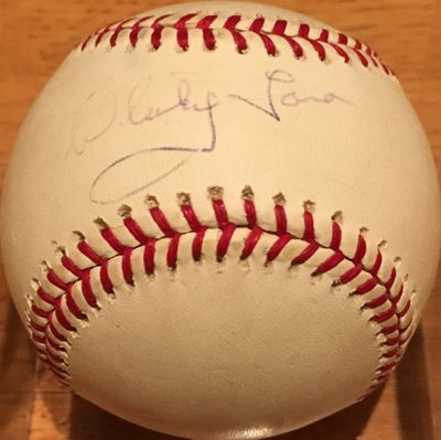 Whitey Ford autographed MLB baseball (faded)