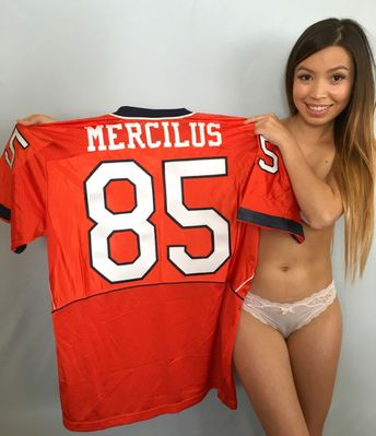 Whitney Mercilus Illinois Fighting Illini authentic Nike double stitched throwback jersey NEW