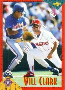 Will Clark 1994 Score Rookie Traded promo or sample card