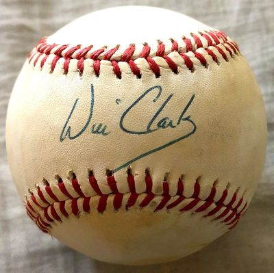 Will Clark autographed Rawlings official National League baseball
