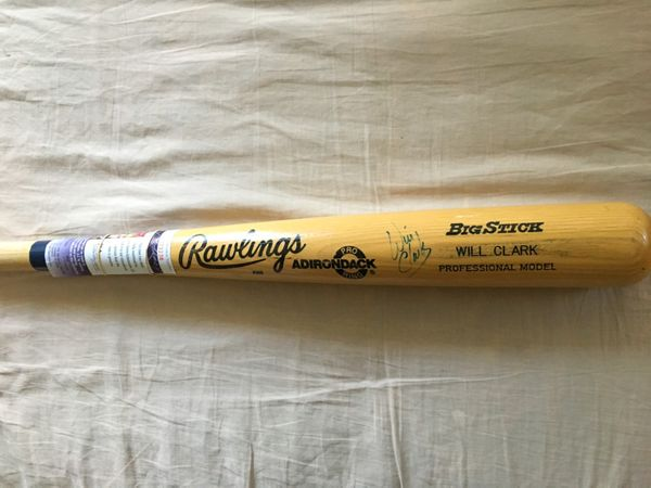Will Clark autographed Rawlings Big Stick Adirondack game model bat (JSA)