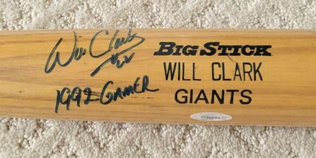 Will Clark autographed Rawlings Big Stick 1992 game issued bat (TRISTAR)