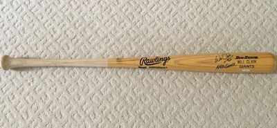 Will Clark autographed Rawlings Big Stick game issued bat inscribed 1992 GAMER (TriStar)