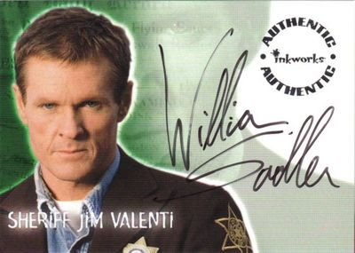 William Sadler Roswell certified autograph card