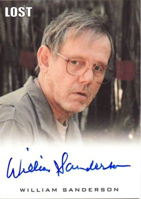 William Sanderson LOST 2010 Rittenhouse certified autograph card
