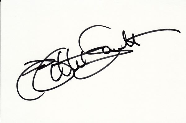 Willie Gault autographed 4x6 index card