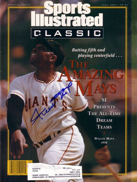 Willie Mays autographed San Francisco Giants 1992 Sports Illustrated Classic magazine