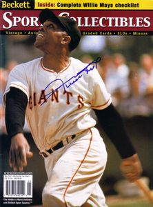 Willie Mays autographed San Francisco Giants Beckett Sports Collectibles magazine