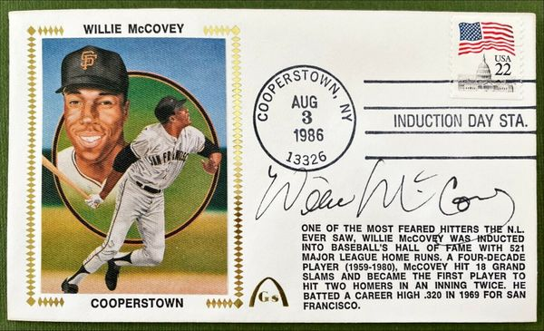 Willie McCovey autographed San Francisco Giants 1986 Hall of Fame Induction Gateway cachet
