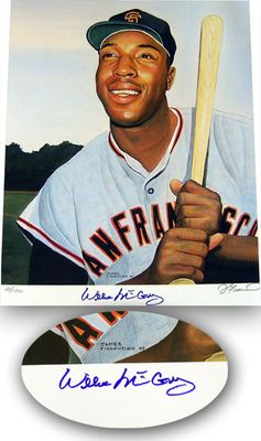 Willie McCovey autographed San Francisco Giants 16x20 inch lithograph #/100 (Real Deal Memorabilia)