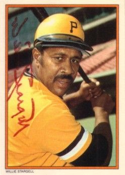 Willie Stargell autographed Pittsburgh Pirates 1985 Topps Circle K All Time Home Run Kings card