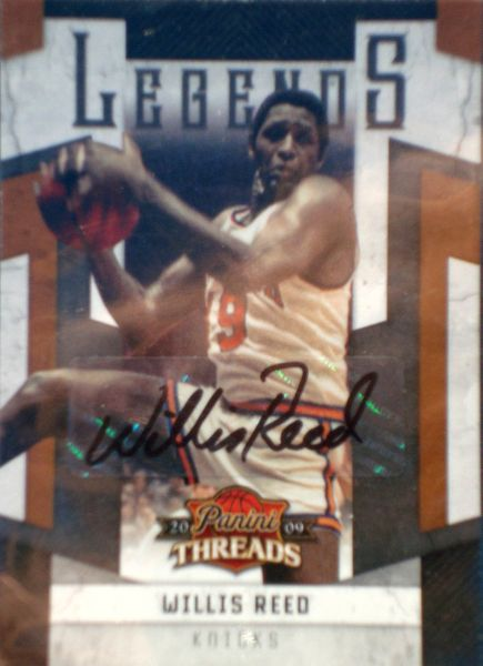 Willis Reed certified autograph New York Knicks 2009 Panini Legends card #16/25