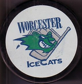Worcester IceCats AHL logo hockey puck