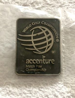 World Golf Championships Accenture Match Play Championship pewter golf pin MINT
