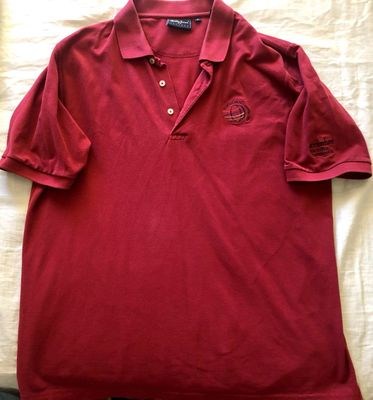 World Golf Championships Accenture Match Play Championship red golf shirt