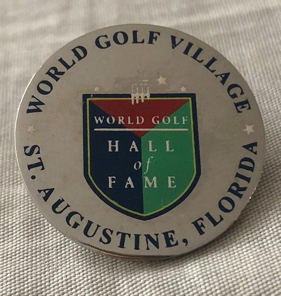 World Golf Hall of Fame logo silver pin