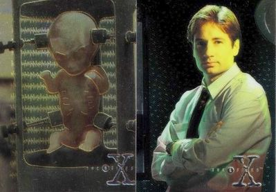 X-Files Topps Season 1 Finest Chromium cards X2 and X3